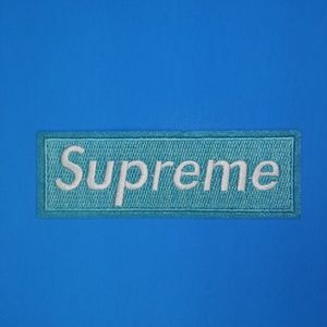 Supreme Baby Blue Patch Iron and Sew On Patch